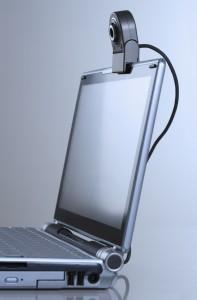 ordinateur avec webcam